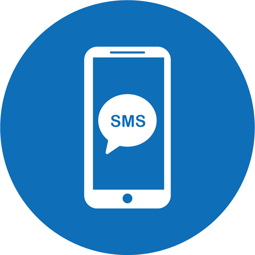 [Icon] SMS Services(Blue_Circle)